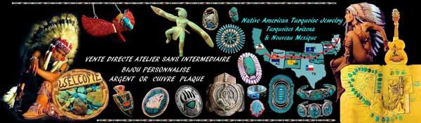 Boutique amérindienne de bijoux navajo