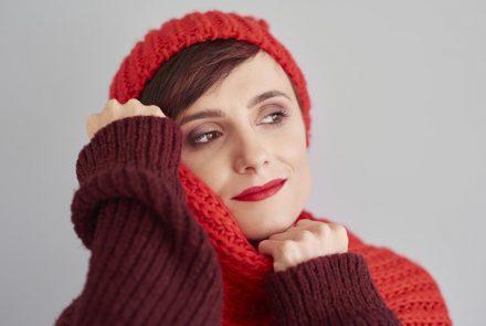 femme en pleine forme l'hiver